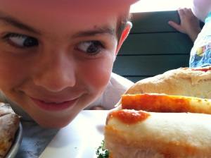 "Doing your ""Adam Richman, Man versus Food"" face!"