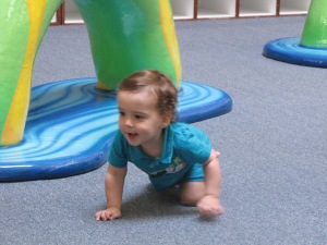 He crawled at 13 months.
