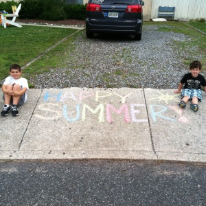 The boys on the last day of school last year.