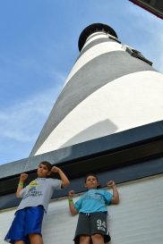 And, of course, we hit a lighthouse for Finny.