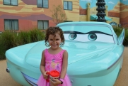 She loved the girl cars the best.