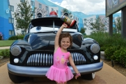 Tallulah's self directed photo shoot with all the Cars.
